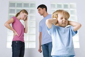 Скандал в семье болеет ребёнок